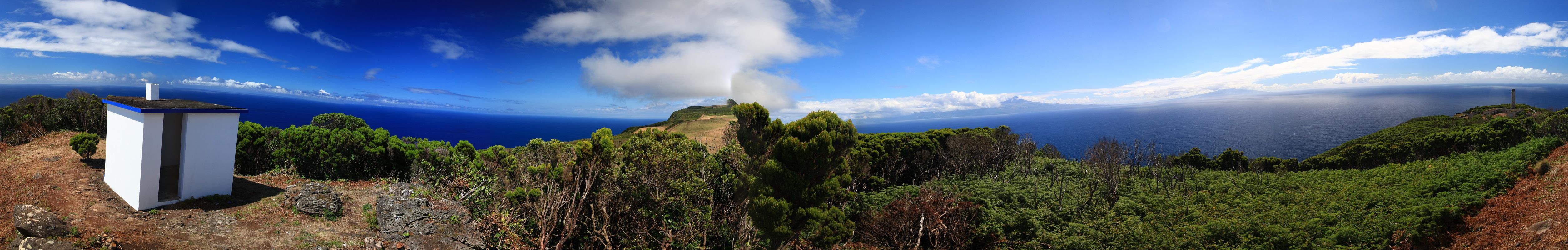 Panorama von der Nordwestspitze von Sao Jorge