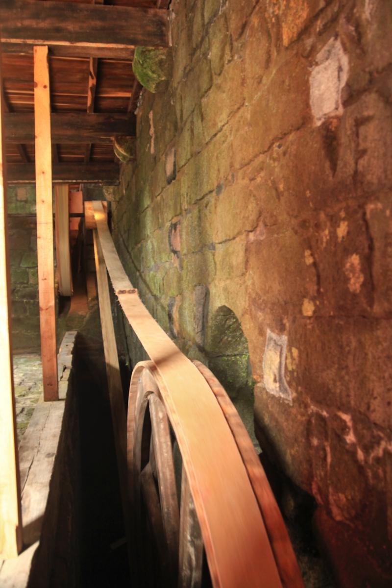 Antrieb der Mühle im Museo do Trigo